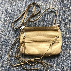 Rebecca Minkoff white leather with zippers purse
